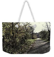 Road To Covered Bridge Weekender Tote Bag by Joanne Coyle