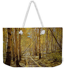 Weekender Tote Bag featuring the photograph Road To Gold In Colorado by Steven Reed