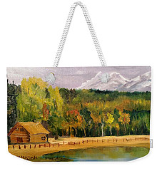 Road To Kintla Lake Weekender Tote Bag by Larry Hamilton