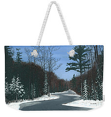 Road To Northport - Winter Weekender Tote Bag
