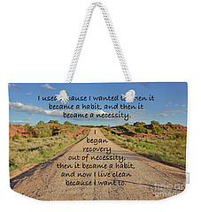 Weekender Tote Bag featuring the photograph Road To Recovery by Debby Pueschel