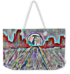 Weekender Tote Bag featuring the painting Road To Sedona 2 by Reed Novotny