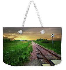 Road Track Crossing Weekender Tote Bag