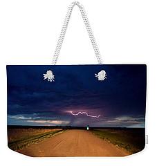 Road Under The Storm Weekender Tote Bag by Ed Sweeney