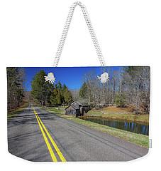 Road View Of Mabry Mill Weekender Tote Bag
