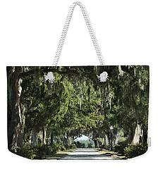 Road With Live Oaks Weekender Tote Bag