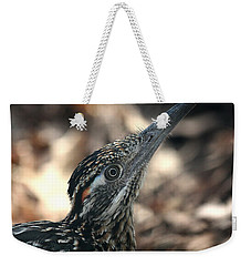 Weekender Tote Bag featuring the photograph Roadrunner Close-up by Sheila Brown