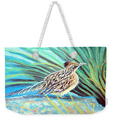 Roadrunner Fluffing Sold   Pastel Weekender Tote Bag by Antonia Citrino