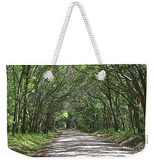Weekender Tote Bag featuring the photograph Roadway To Mitchellville Beach by Carol  Bradley
