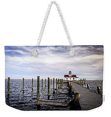 Roanoke Lighthouse - Manteo North Carolina Weekender Tote Bag