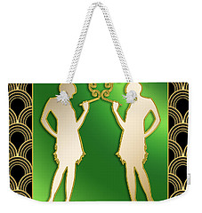 Weekender Tote Bag featuring the digital art Roaring 20s Girls - Chuck Staley by Chuck Staley