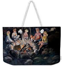 Roasting Marshmallows Weekender Tote Bag by Marilyn Jacobson