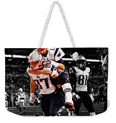 Rob Gronkowski And Tom Brady Weekender Tote Bag