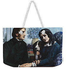 Robert Browning Visits Elizabeth Barrett At 50 Wimpole Street Weekender Tote Bag