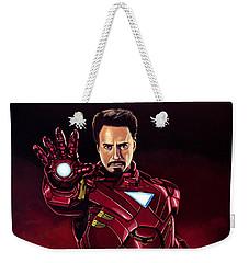 Robert Downey Jr. As Iron Man  Weekender Tote Bag