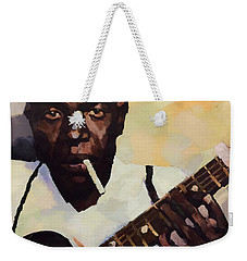 Robert Johnson Plays The Blues Weekender Tote Bag by Dan Sproul