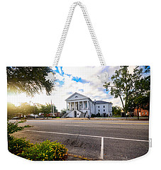 Weekender Tote Bag featuring the photograph Robert Mills Courthouse by Linda Brown
