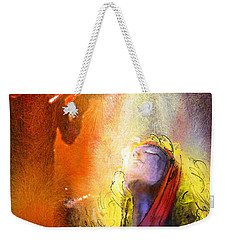Robert Plant And Jimmy Page 02 Weekender Tote Bag by Miki De Goodaboom