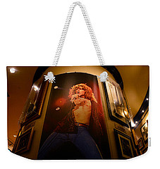 Robert Plant At The Hard Rock Weekender Tote Bag by David Lee Thompson
