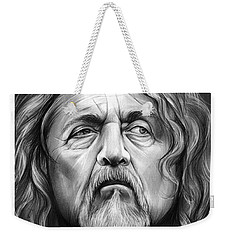 Robert Plant Weekender Tote Bag by Greg Joens