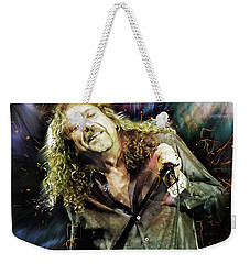 Robert Plant Weekender Tote Bag by Mal Bray