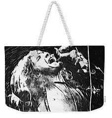 Robert Plant Weekender Tote Bag by Taylan Apukovska
