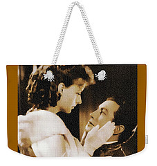 Robert Taylor And Greta Garbo Weekender Tote Bag