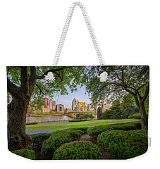 Weekender Tote Bag featuring the photograph Roberto Clemente Bridge by Emmanuel Panagiotakis