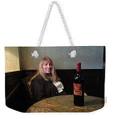 Robin At The Cafe Weekender Tote Bag