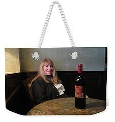 Robin At The Cafe Weekender Tote Bag