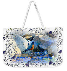 Weekender Tote Bag featuring the photograph Robin by Athala Carole Bruckner