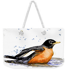 Robin Bathing Weekender Tote Bag