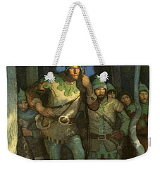 Robin Hood And His Merry Men Weekender Tote Bag by Newell Convers Wyeth