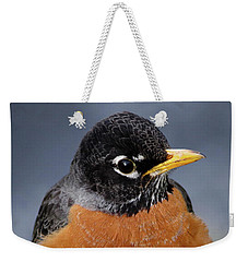Weekender Tote Bag featuring the photograph Robin II by Douglas Stucky