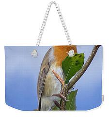 Robin In Eden Weekender Tote Bag