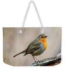 Robin In Spring Weekender Tote Bag by Torbjorn Swenelius