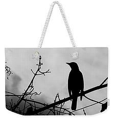 Robin Silhouette Weekender Tote Bag