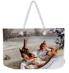 Robins And Wrens  Winter Breakfast Weekender Tote Bag
