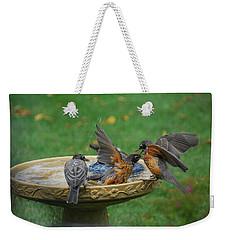 Robins Bathing Weekender Tote Bag