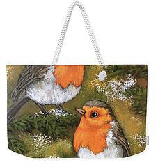 Robins, Winter Weekender Tote Bag