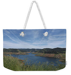 Weekender Tote Bag featuring the photograph Robinson's Ferry Overlook  by Sara Raber