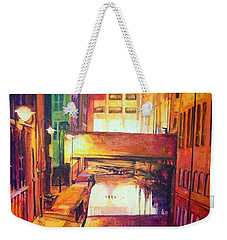 Rochdale Canal With Lock At Night Weekender Tote Bag