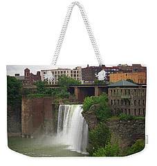Weekender Tote Bag featuring the photograph Rochester, New York - High Falls 2 by Frank Romeo