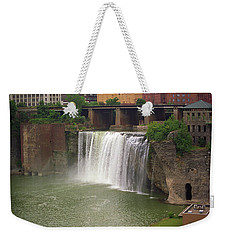 Weekender Tote Bag featuring the photograph Rochester, New York - High Falls by Frank Romeo