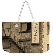 Weekender Tote Bag featuring the photograph Rochester, New York - Jimmy Mac's Bar 2 Sepia by Frank Romeo