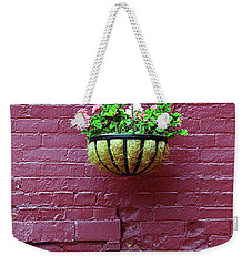 Weekender Tote Bag featuring the photograph Rochester, New York - Purple Wall by Frank Romeo
