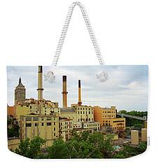 Rochester, Ny - Factory And Smokestacks 2005 Weekender Tote Bag by Frank Romeo