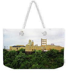 Weekender Tote Bag featuring the photograph Rochester, Ny - Factory On A Hill by Frank Romeo