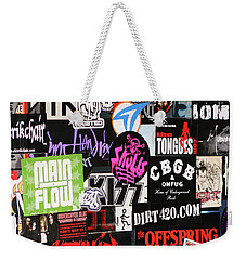 Rock And Roll Stickers Weekender Tote Bag
