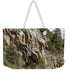 Weekender Tote Bag featuring the photograph Rock Climbers Paradise by James BO Insogna